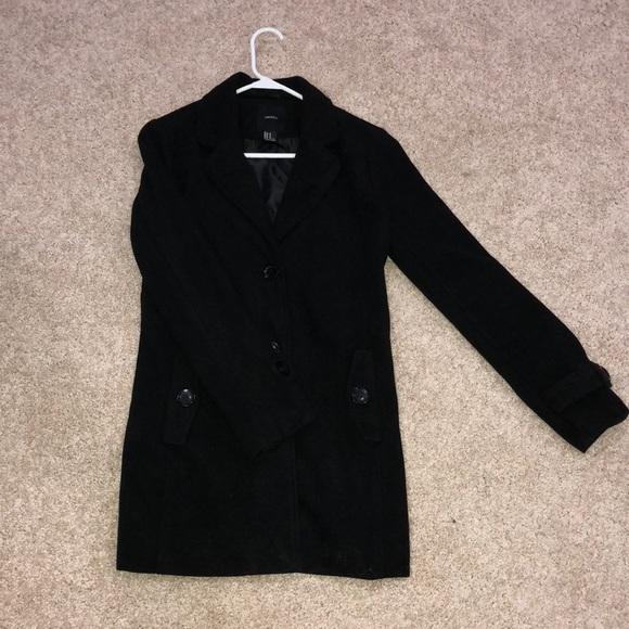 Forever 21 Jackets & Blazers - Forever 21 Black Peacoat